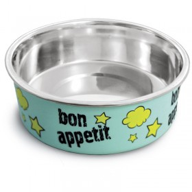 "Миска металлическая на резинке TRIOL ""Bon Appetit"", 150 мл"