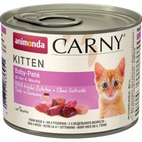 ANIMONDA CARNY KITTEN консервы для котят паштет 200 гр.
