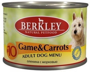 Беркли консервы для собак дичь (оленина) с морковью №10 200 гр.