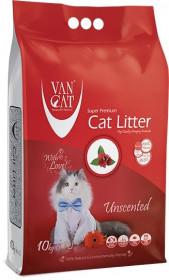 """Van Cat """"100% Natural"""" , комкующийся наполнитель ,без пыли, пакет  10кг"""