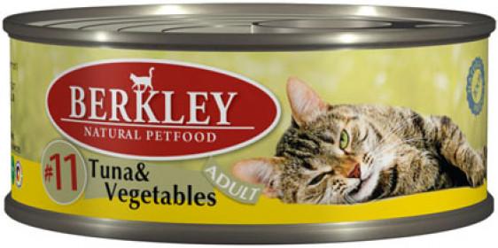 Berkley консервы для кошек тунец с овощами №11 100 г
