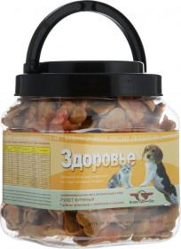 Грин Кьюзин ЗДОРОВЬЕ, лакомство для собак , галеты с телятиной и курицей (туба 750гр)