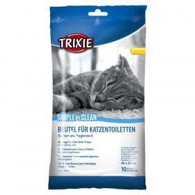 """TRIXIE пакеты уборочные для для кошачьих туалетов """"L"""" 46 * 59 cм"""