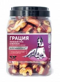 Грин Кьюзин ГРАЦИЯ , лакомство для собак, сушеное гусиное мясо на яблоке (туба 750гр)