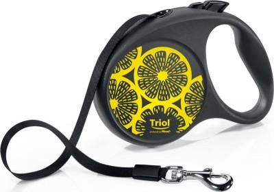 TRIOL Поводок-рулетка для собак FLEXI Joy Lemon, S 5м до 15кг, лента