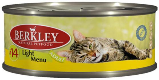 Berkley консервы для кошек легкая формула телятина и кролик №14 100 г