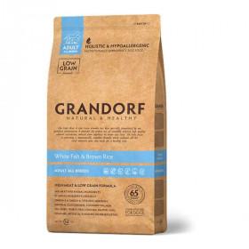 Сухой корм GRANDORF Белая рыба с рисом для собак всех пород от 1 года