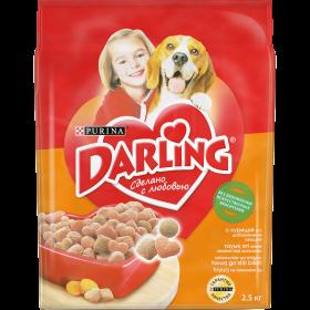 Darling (Дарлинг). Корм сухой полнорационный для взрослых собак, с курицей и с добавлением овощей