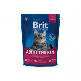 Brit Premium Cat Adult Chicken для взрослых кошек с мясом курицы и куриной печенью