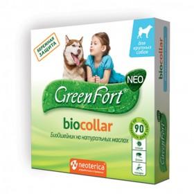 Green Fort neo БиоОшейник от блох и клещей для крупных собак, 75 см