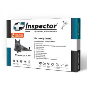 Inspector капли от блох, клещей и глистов для кошек более 4 кг