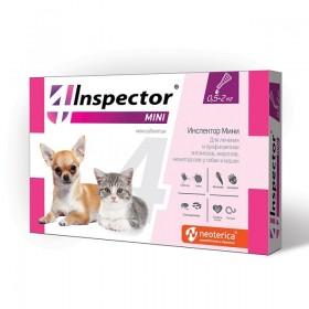 Inspector Mini капли от блох, клещей и глистов для кошек и собак до 2 кг