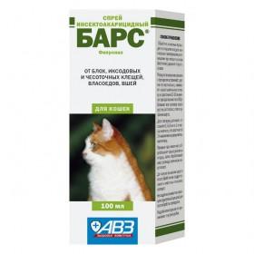 БАРС спрей инсект. для кошек, 100 мл