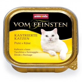 ANIMONDA VOM FEINSTEN консервы для кастрированных кошек с индейкой и сыром 100 гр.