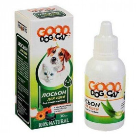 GOOD Dog&Cat Лосьон для ушей для кошек и собак, 30 мл