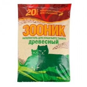 ЗООНИК Наполнитель древесный, 20 л