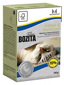 BOZITA Feline Funktion Indoor & Sterilised Tetra Pak кус.в желе с курицей д/дом., стерилиз. и малоподв. кошек (190г)