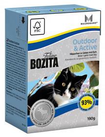 BOZITA Feline Funktion Outdoor & Active Tetra Pak кус.в желе с мясом лося д/растущ. и взросл.активн.кошек (190г)