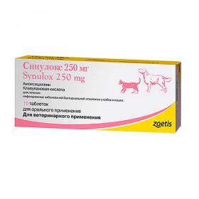Синулокс 250 мг, 10 табл.