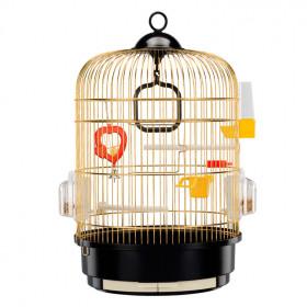 Ферпласт Клетка REGINA для птиц (золото) с подставкой коричневая 51049802