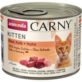 ANIMONDA CARNY KITTEN консервы для котят с говядиной, телятиной и курицей