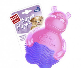 """GiGwi 75425 Игрушка для собак """"SUPPA PUPPA """"Бегемотик с пищалкой"""""""