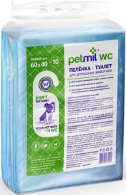 PETMIL Петмил Пеленка впитывающая одноразовая  с суперабсорбентом, р-р 60*40 см, 10 шт./уп.