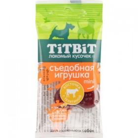 Tit Bit Съедобная игрушка , косточка с телятиной Mini 4400