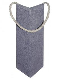 Когтеточка из ковролина подвесная угловая, 100x100x440 мм