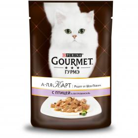 Gourmet (Гурмэ) А-ля Карт. Рецепт от Шеф-Повара. Корм консервированный полнорационный для взрослых кошек, с птицей, баклажаном и цукини