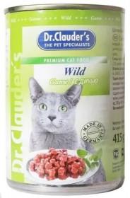 Dr.Clauder's консервированный корм для кошек с дичью кусочки в соусе 415 г