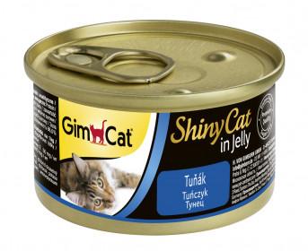 GimCat, ShinyCat консервы для кошек из тунца
