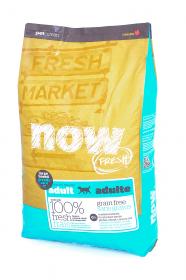 NOW Fresh Adult Large Breed беззерновой сухой корм для собак крупных пород с Индейкой, Уткой и овощами