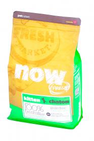 NOW Fresh Kitten беззерновой сухой корм для котят с Индейкой, Уткой и овощами