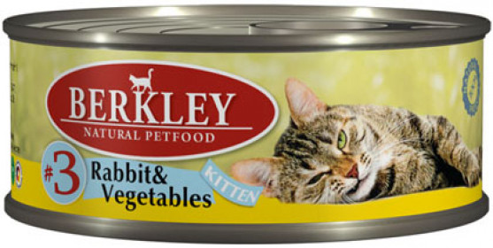 Berkley консервы для котят кролик с овощами №3 100 г