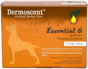 Эссеншиал 6 спот-он капли дерматологические для собак 0-10 кг