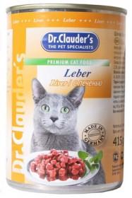 Dr.Clauder's консервированный корм для кошек с печенью кусочки в соусе 415 г