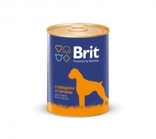 Brit Red Meat & Liver консервы для собак Говядина и печень