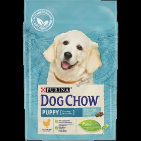 Dog Chow (Дог Чау). Корм сухой полнорационный для щенков, с курицей.Подходит для кормления беременных и лактирующих собак, а также взрослых собак мелких пород.