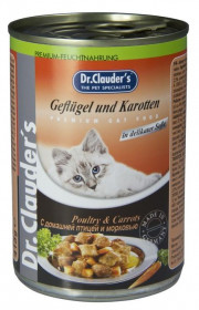 Dr.Clauder's консервированный корм для кошек с домашней птицей и морковью кусочки в соусе 415 г