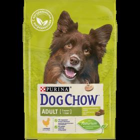 Dog Chow (Дог Чау). Корм сухой полнорационный для взрослых собак, с курицей