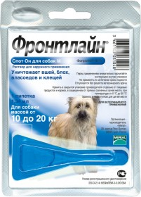 Фронтлайн Спот Он капли от блох и клещей для собак M 10-20 кг