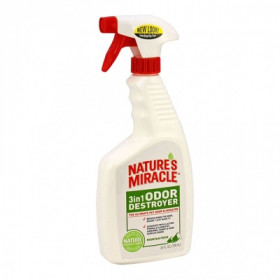 8in1 NATURE'S MIRACLE Спрей уничтожитель запахов 3 в 1 с ароматом горной свежести для собак, 709 мл
