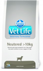 Farmina Vet Life Neutered сухой корм для взрослых кастрированных или стерилизованных собак весом более 10кг