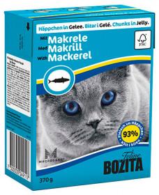 BOZITA Feline Makerel Tetra Pak кус. в желе со скумбрией д/кошек (370г)