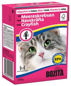 BOZITA Feline Crayfish Tetra Pak кус.в желе с лангустами д/кошек (370г)