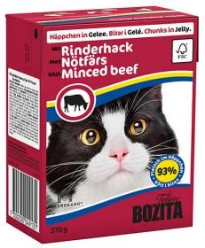 BOZITA Feline Minced Beef Tetra Pak кус.в желе с рубл.говядиной д/кошек (370г)