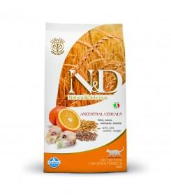 Сухой корм для кошек Farmina N&D Ocean, с треской, овсянкой, спельтой и апельсином