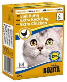 BOZITA Feline Extra Chicken Tetra Pak кус.в желе с курицей д/кошек (370г)