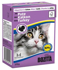 BOZITA Feline Turkey Tetra Pak кус.в желе с индейкой д/кошек (370г)